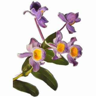 Purple Orchids Sculpture Standing Photo Sculpture