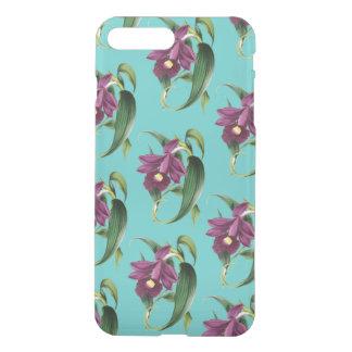 Purple Orchids Teal Pattern iPhone 8 Plus/7 Plus Case