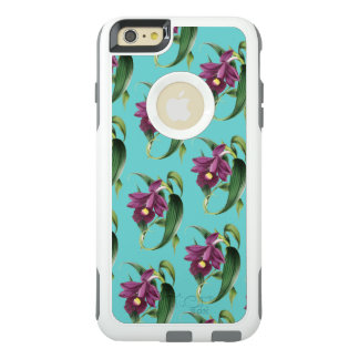 Purple Orchids Teal Pattern OtterBox iPhone 6/6s Plus Case