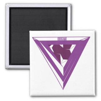Purple Origami Triangle Magnet