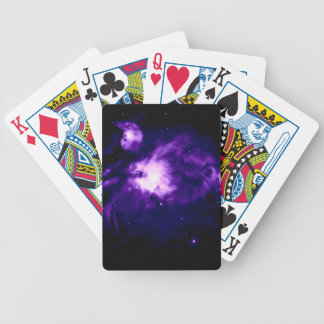 Purple Orion Nebula : Galaxy Bicycle Playing Cards
