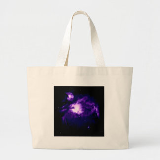Purple Orion Nebula : Galaxy Large Tote Bag