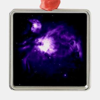 Purple Orion Nebula : Galaxy Metal Ornament