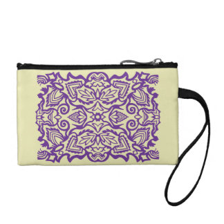 Purple Ornament Coin Purse
