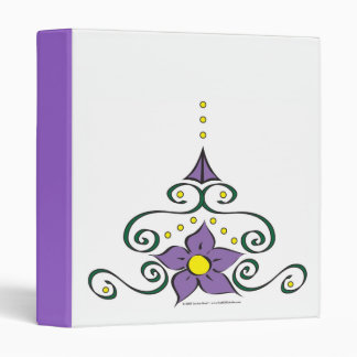 Purple Ornamental Flower Avery Binder