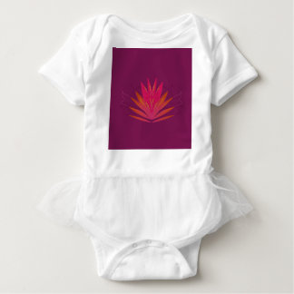 Purple ornaments luxury baby bodysuit