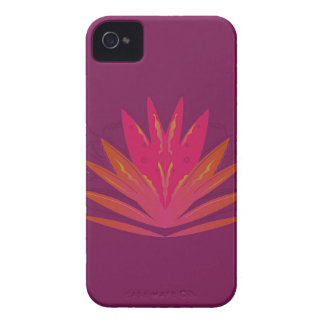 Purple ornaments luxury iPhone 4 case