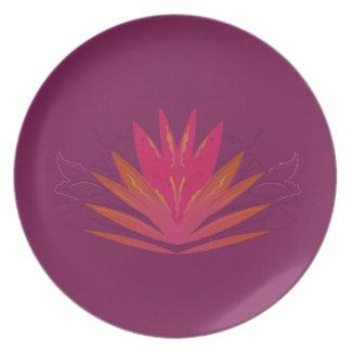 Purple ornaments luxury plate