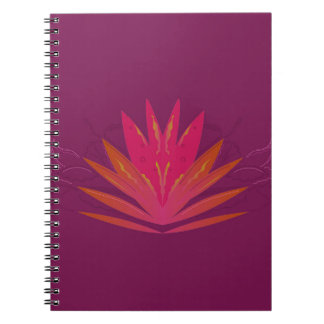 Purple ornaments luxury spiral notebook