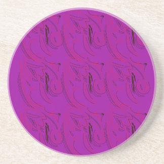 Purple ornaments / shop coaster