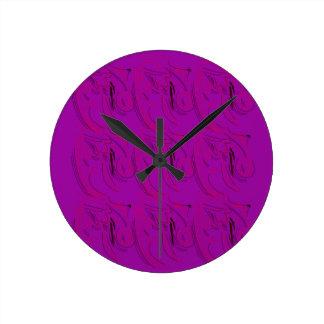 Purple ornaments / shop round clock