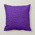 Purple Oversized Ostrich Leather Grain Pillow