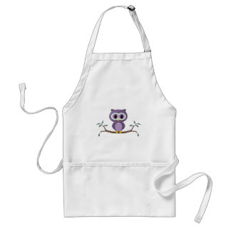 Purple Owl Apron