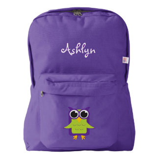 Purple Owl Backpack