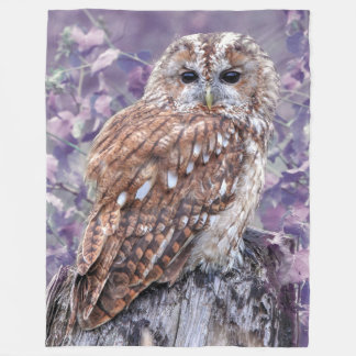 Purple Owl Blanket