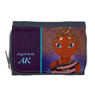 Purple owl butterfly girl wallet