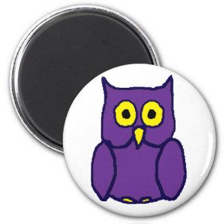 Purple Owl Magnet