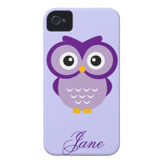 Purple Owl Personalized Case