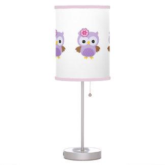 Purple Owl Table Lamp