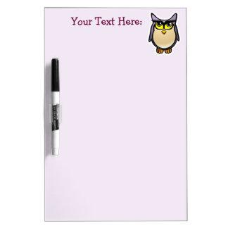 Purple Owl With Big Eyelashes Cartoon Dry-Erase Whiteboards