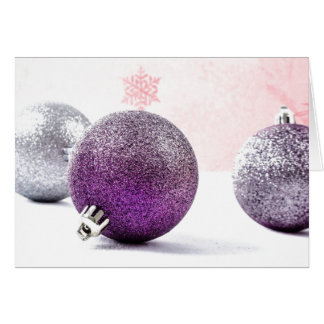 Purple Pain Awareness Ornaments Card