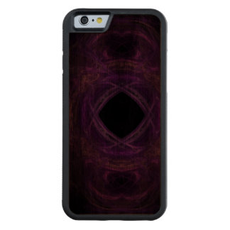 Purple Pain Fractal Carved Walnut iPhone 6 Bumper Case