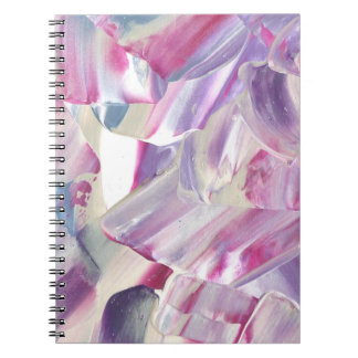 Purple paint abstract art notebook