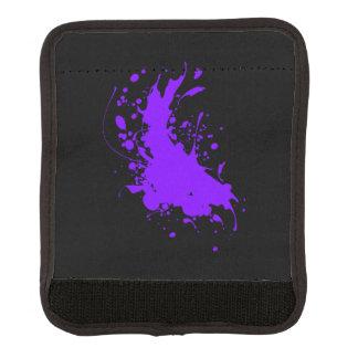 Purple Paint Splatter Luggage Handle Wrap