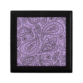 Purple Paisley Boho Print Keepsake Boxes