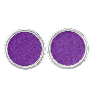 Purple Paisley Cufflinks