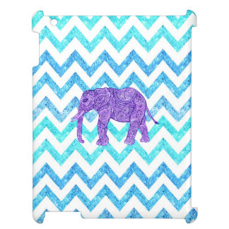 Purple Paisley Elephant Girly Teal Glitter Chevron Cover For The iPad 2 3 4