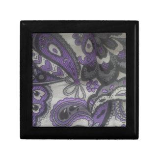 Purple Paisley Gear Jewelry Box