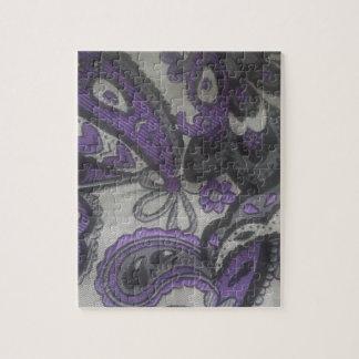 Purple Paisley Gear Jigsaw Puzzle