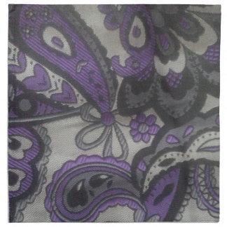Purple Paisley Gear Napkin