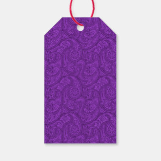 Purple Paisley Gift Tags
