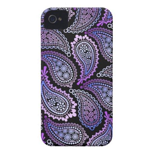 Purple Paisley iPhone 4/4S Case iPhone 4 Case-Mate Case