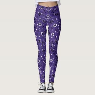 Purple Paisley Leggings