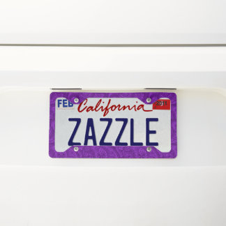 Purple Paisley License Plate Frame