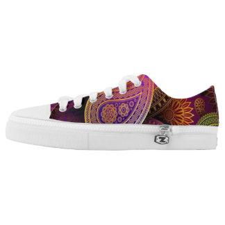 Purple Paisley Low-Top Sneakers