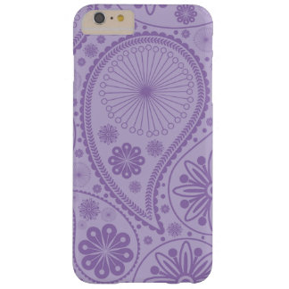 Purple paisley pattern barely there iPhone 6 plus case
