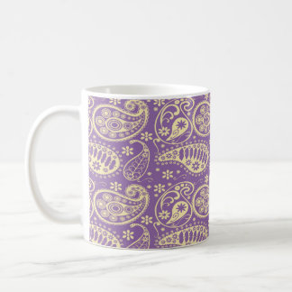 Purple Paisley Pattern Coffee Mug