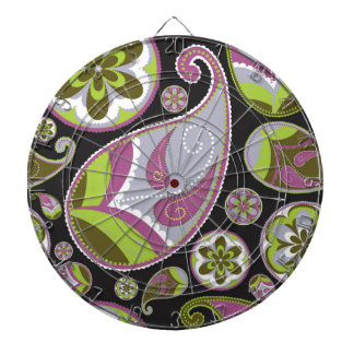 Purple Paisley Pattern Dartboard