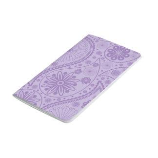 Purple paisley pattern journal