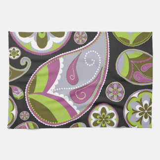 Purple Paisley Pattern Kitchen Towel