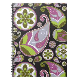 Purple Paisley Pattern Notebook