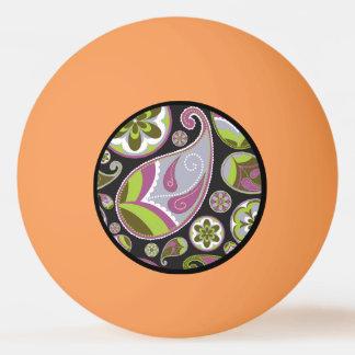 Purple Paisley Pattern Ping Pong Ball