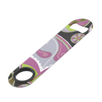 Purple Paisley Pattern Speed Bottle Opener