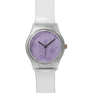 Purple paisley pattern watch