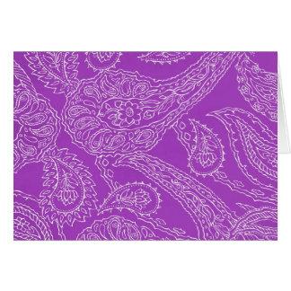 Purple Paisley Print Summer Fun Girly Pattern Card