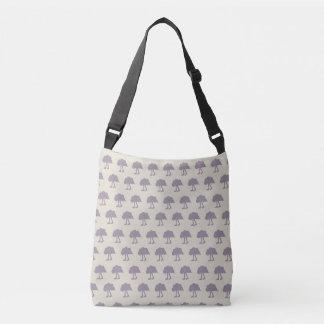 Purple Pale Walking Cloud Pattern Crossbody Bag
